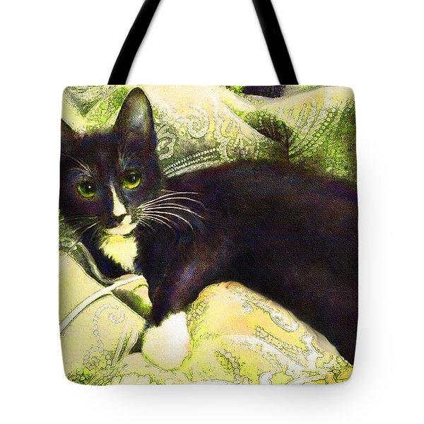 Tuxedo Cat Tote Bag by Jane Schnetlage