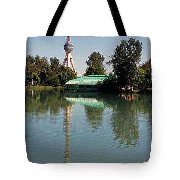 Tv Tower At The Lakeside, Tashkent Tv Tote Bag