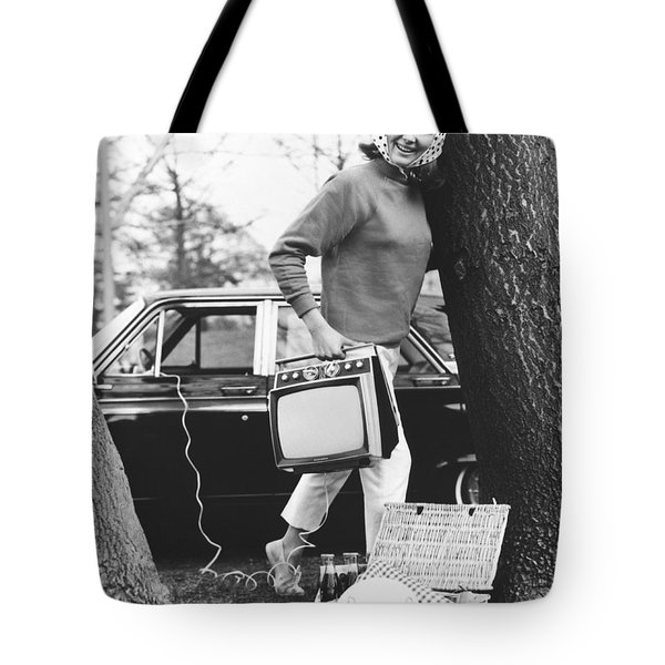Tvs For Picnics Tote Bag by Underwood Archives