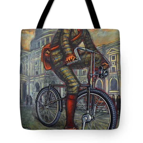 Bob On His Bantam St Pauls London Tote Bag