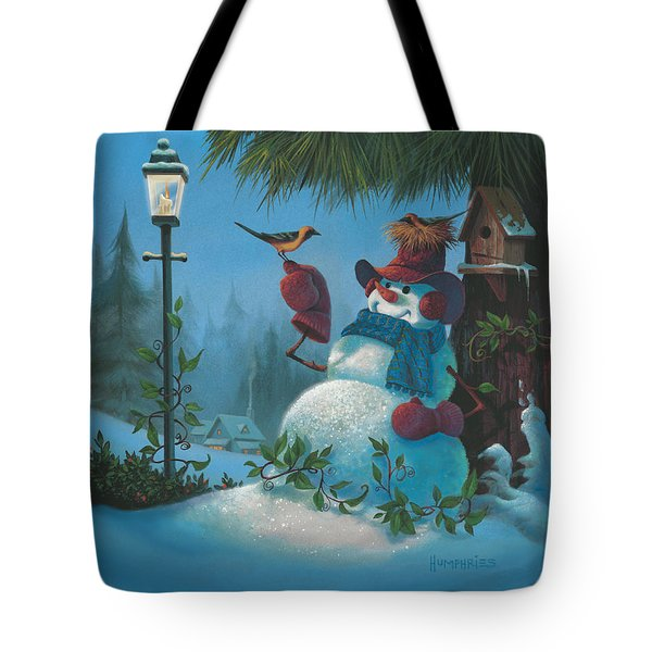 Tote Bag featuring the painting Tweet Dreams by Michael Humphries
