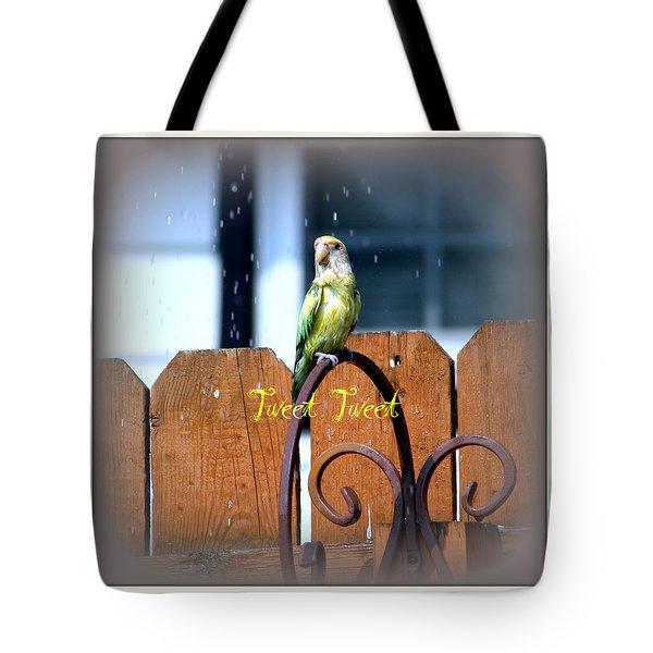 Tweet Tweet Tote Bag by Kay Novy