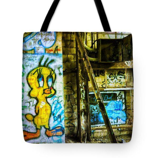 Tote Bag featuring the photograph Tweety by Debra Fedchin
