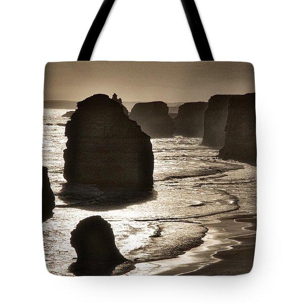 Twelve Apostles #3 - Black And White Tote Bag