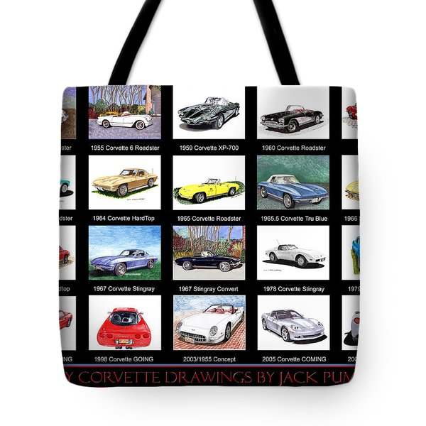 Twenty Corvettes Tote Bag by Jack Pumphrey