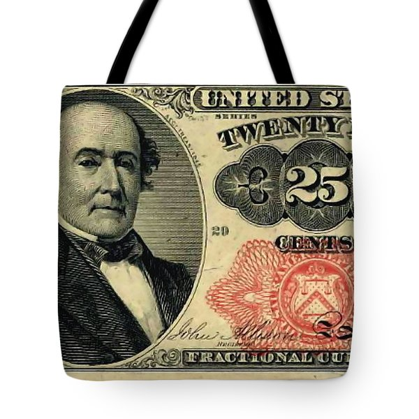 Twenty Five Cents 5th Issue U.s. Fractional Currency Tote Bag by Lanjee Chee