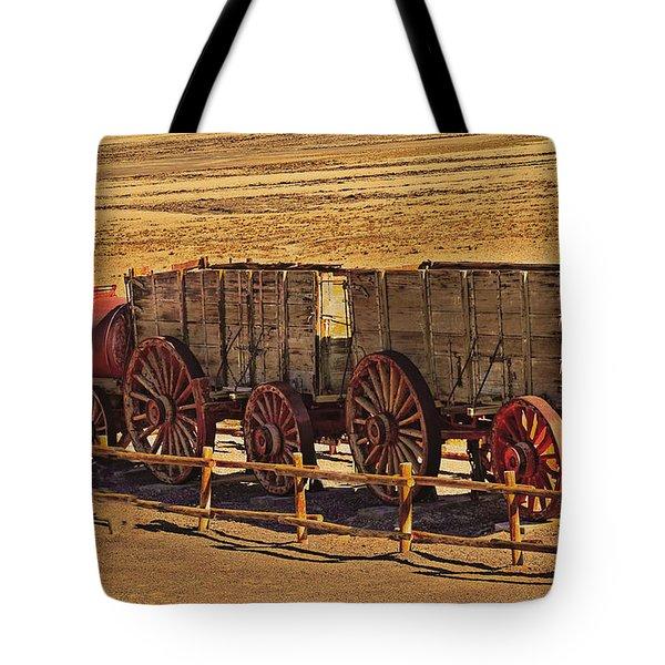 Twenty-mule Team In Sepia Tote Bag by Robert Bales