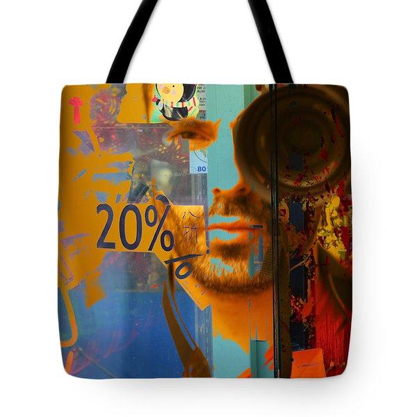 Twenty Percent Of Creativity  Tote Bag by Empty Wall