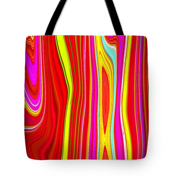Tote Bag featuring the painting Twiggy Stripes C2014 by Paul Ashby