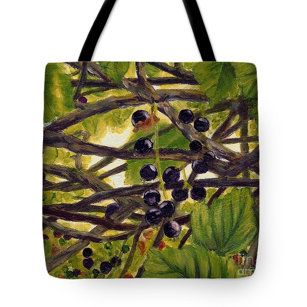 Twigs Leaves And Wild Berries Tote Bag