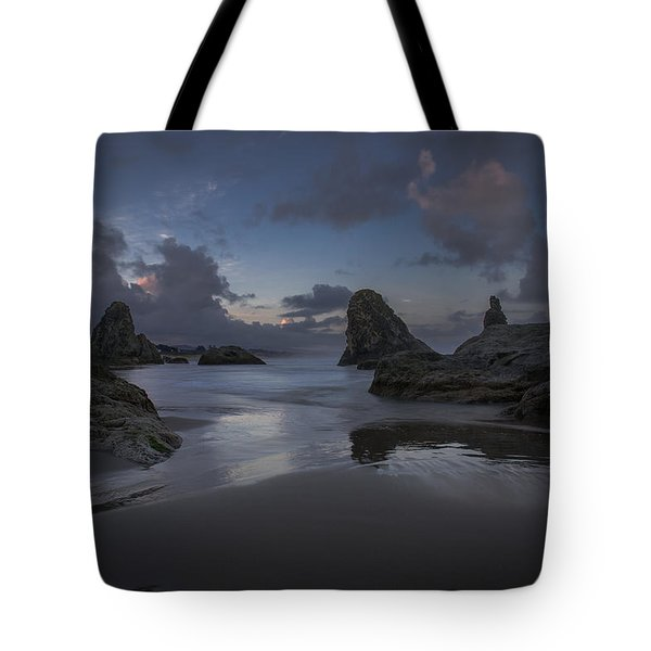 Twilight At Bandon Tote Bag
