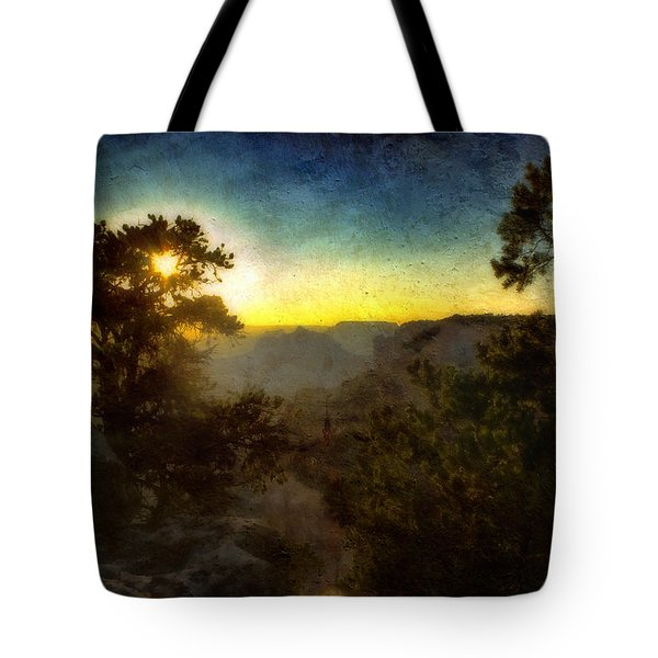 Twilight At The Canyon Tote Bag by Ellen Heaverlo
