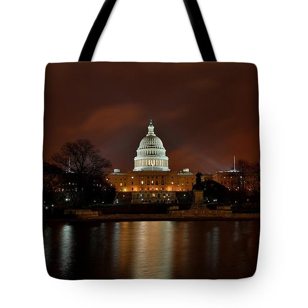 Twilight At The Capitol Tote Bag