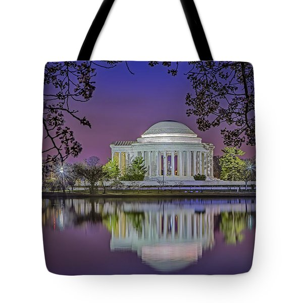 Twilight At The Thomas Jefferson Memorial  Tote Bag by Susan Candelario