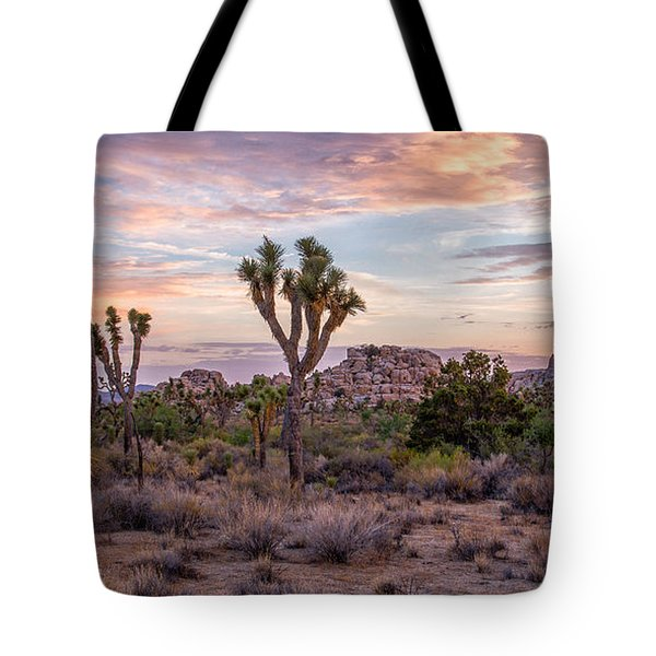 Twilight Comes To Joshua Tree Tote Bag by Peter Tellone