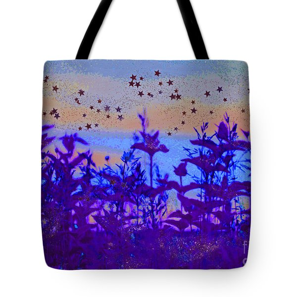 Twilight Meadow Magic Tote Bag by First Star Art