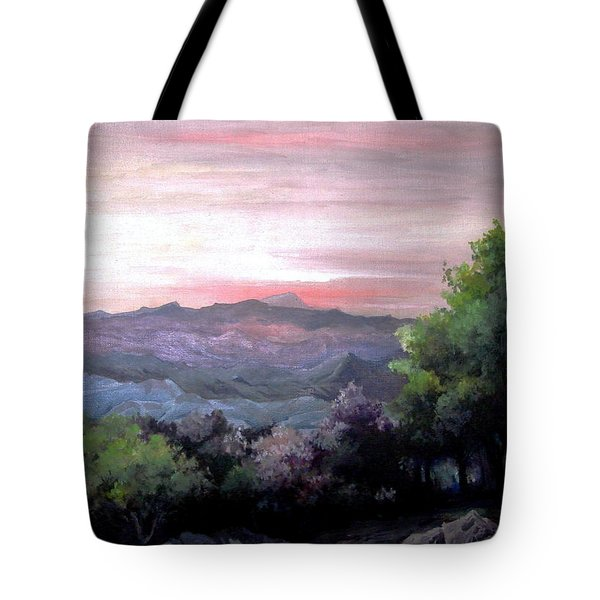 Tote Bag featuring the painting Twilight by Mikhail Savchenko