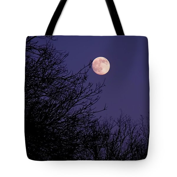 Twilight Moon Tote Bag by Rona Black
