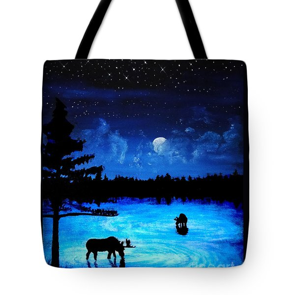 Twilight Moose Tote Bag by Tylir Wisdom