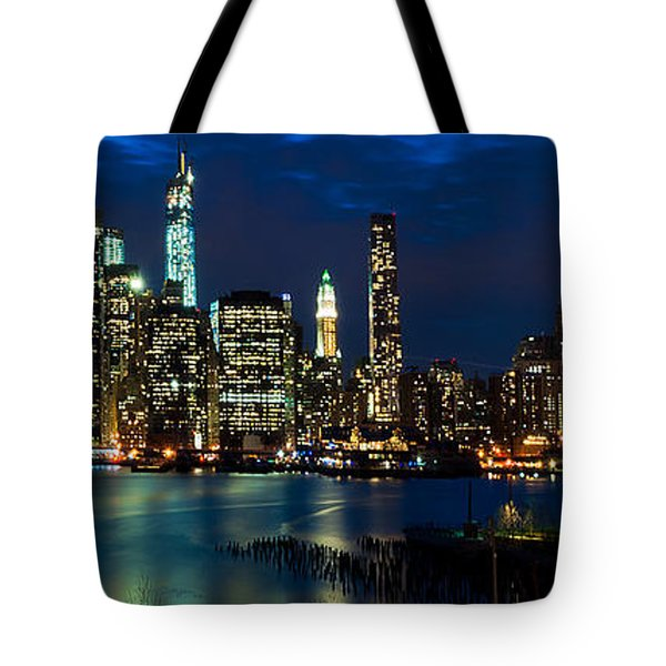 Twilight Nyc Panorama Tote Bag