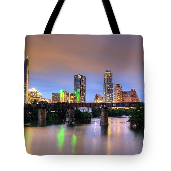 Twilight On The Lake Tote Bag