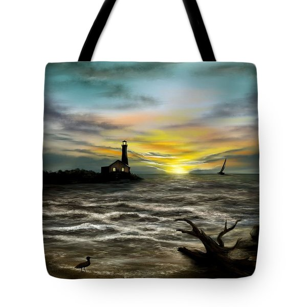 Twilight On The Sea Tote Bag