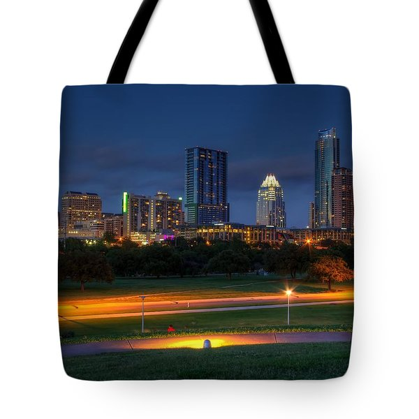 Twilight Skyline Tote Bag by Dave Files