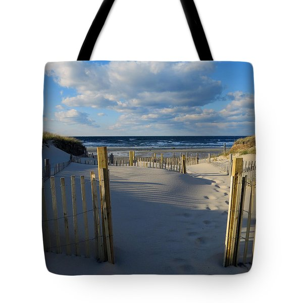Tote Bag featuring the photograph Golden Hour Beach by Dianne Cowen