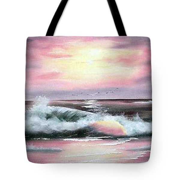 Twilight Surf Tote Bag
