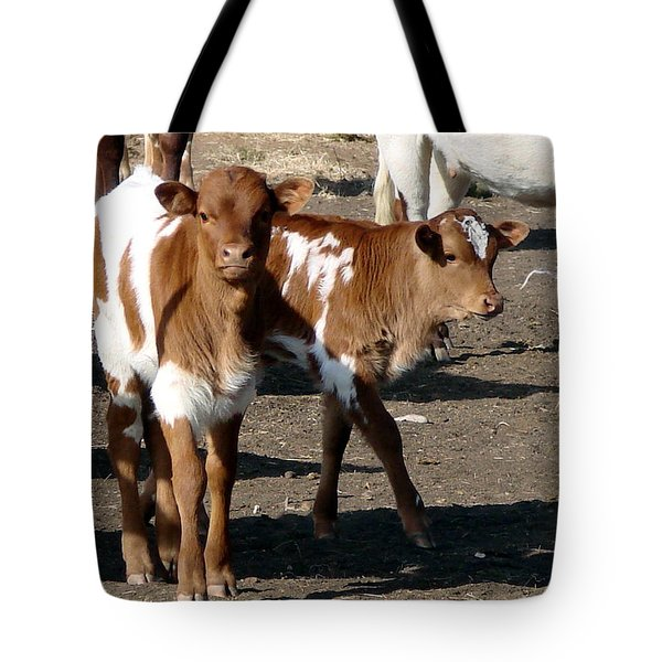 Tote Bag featuring the photograph Twin Bad Boys by Linda Cox