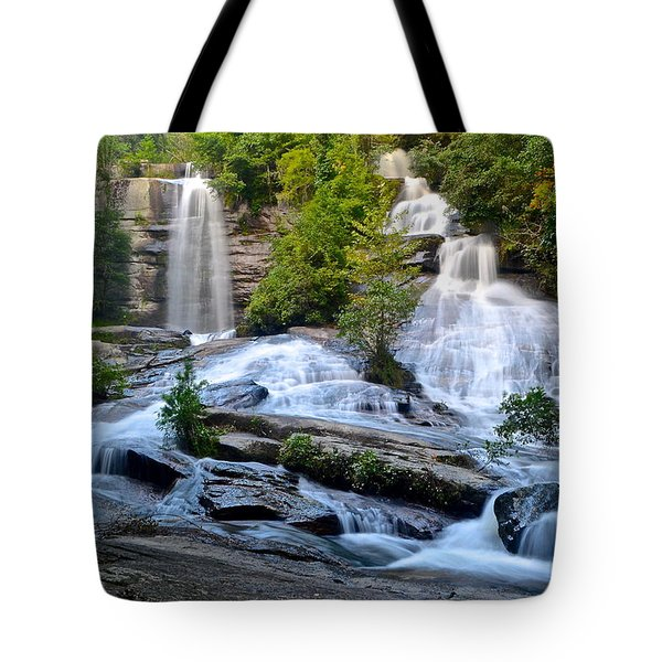 Twin Falls South Carolina Tote Bag by Frozen in Time Fine Art Photography