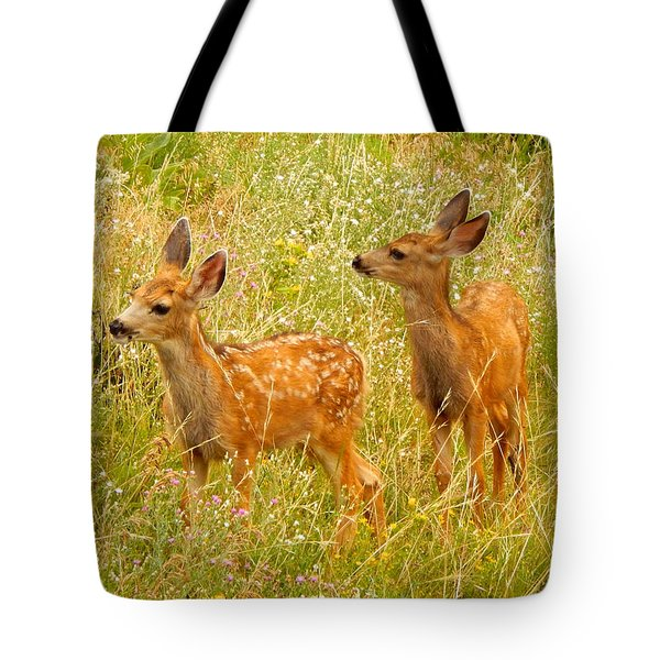 Twin Fawns Tote Bag