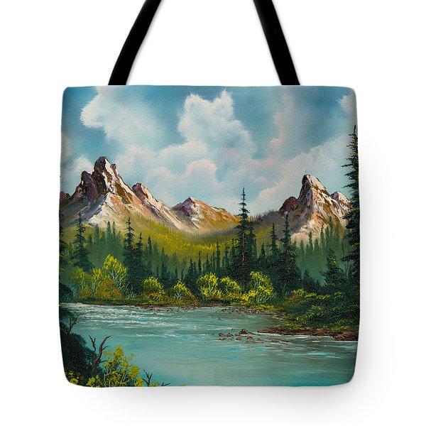 Twin Peaks River Tote Bag by C Steele