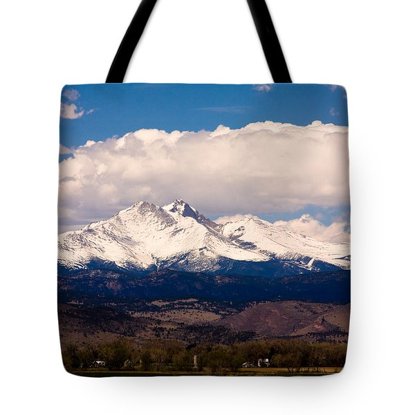 Twin Peaks Snow Covered Tote Bag by James BO  Insogna