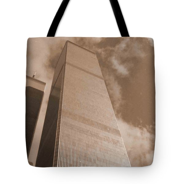 Twin Tower Tote Bag