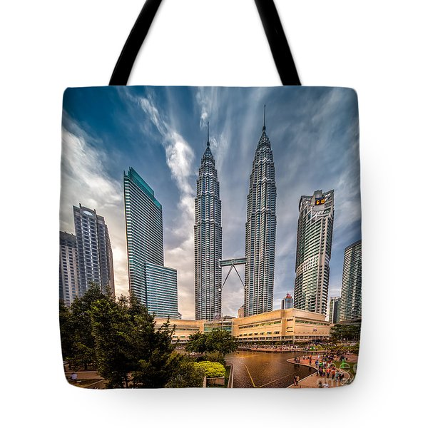 Twin Towers Kl Tote Bag by Adrian Evans