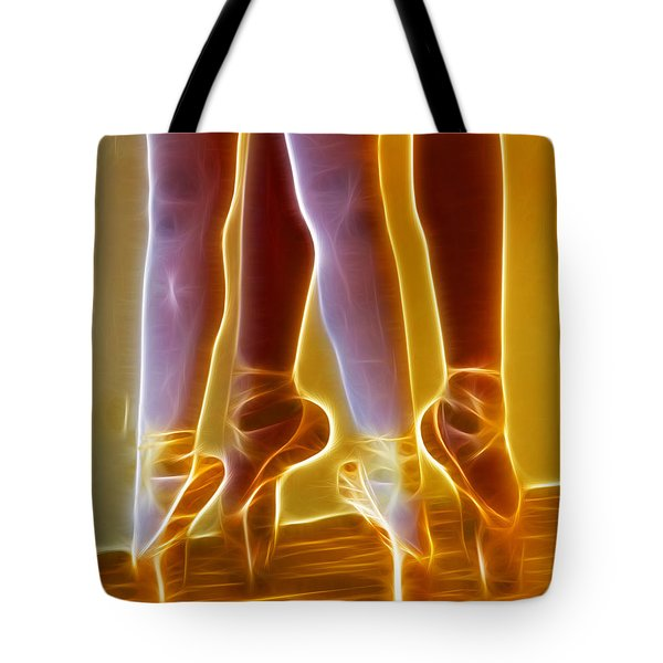 Ballet On Point Seond Position Tote Bag