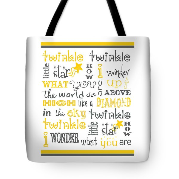 Tote Bag featuring the digital art Twinkle Twinkle Little Star by Jaime Friedman