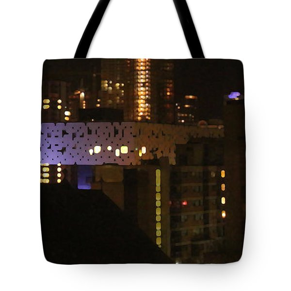 Twinkling City Tote Bag by Yvonne Wright