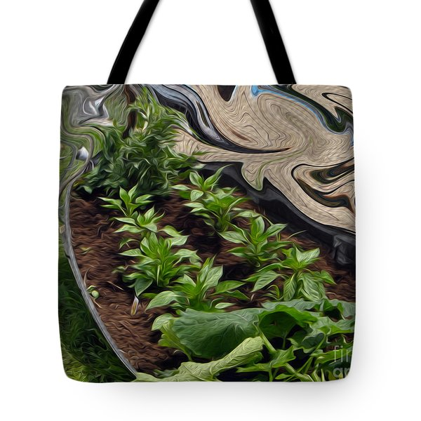 Twisted Garden Tote Bag