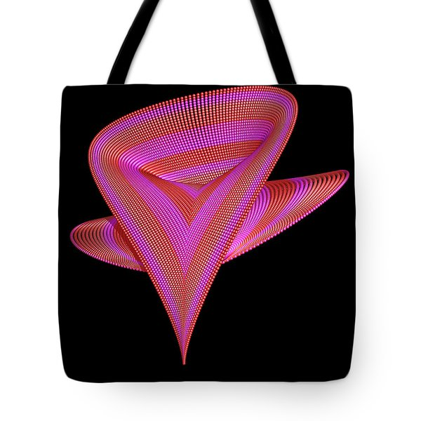 Twisted Heart 3d Fractal Tote Bag by Faye Symons
