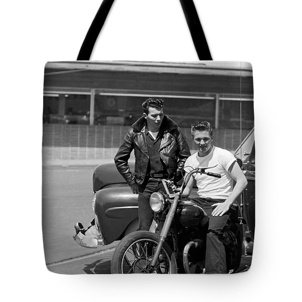 Two 1950's Teenagers Tote Bag