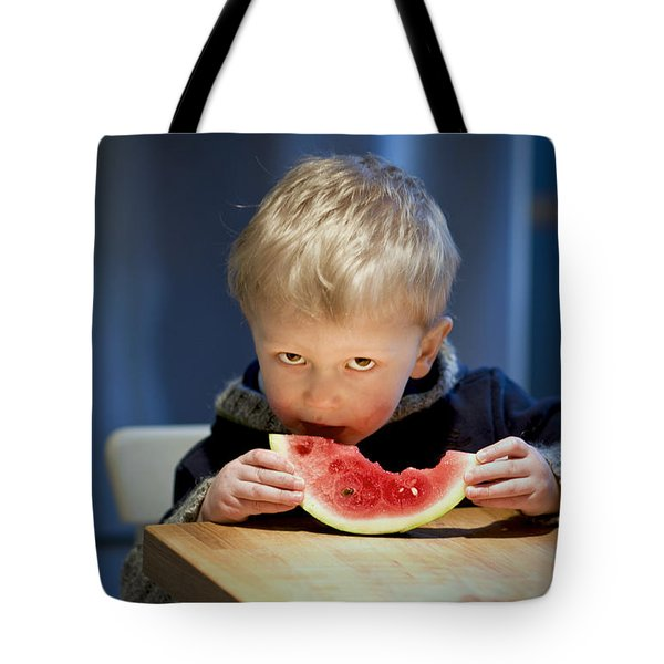 Two And A Half Years Of Watermelon Love Tote Bag by Valerie Rosen