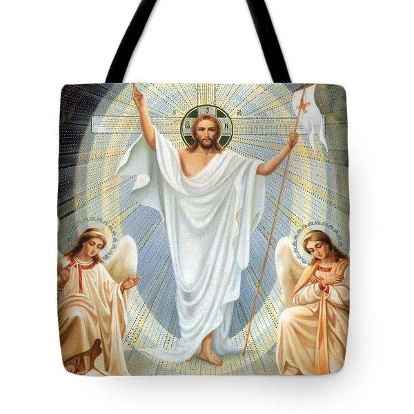 Two Angels Tote Bag by Munir Alawi