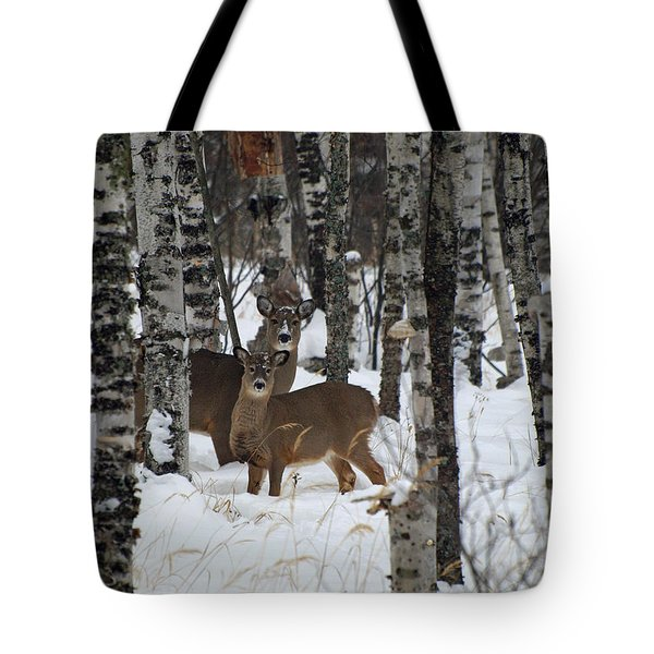 Tote Bag featuring the photograph Two Are Better Than One by James Peterson