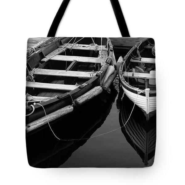 Two At Dock Tote Bag