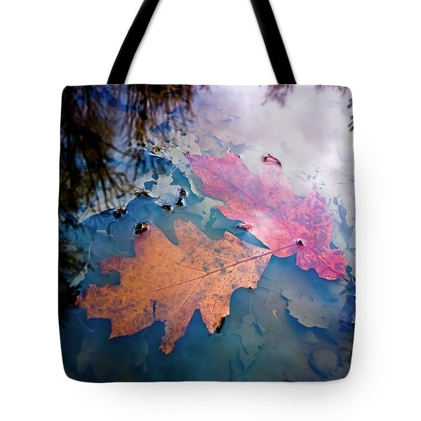 Two Autumn Leaves Tote Bag by Milan Surkala