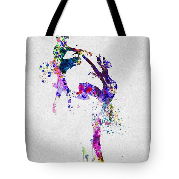 Two Ballerinas Dance Watercolor Tote Bag