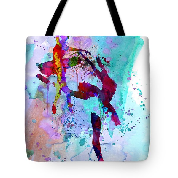 Two Ballerinas Watercolor 1 Tote Bag