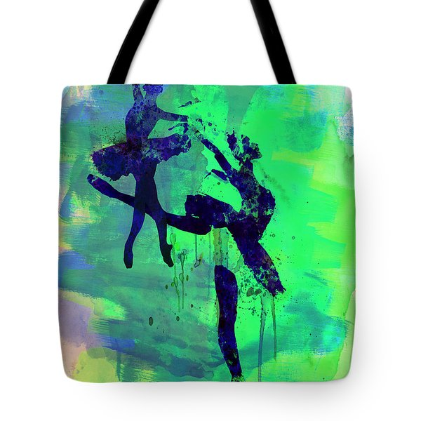 Two Ballerinas Watercolor 2 Tote Bag